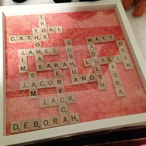 where can i buy scrabble tiles for crafts ways to display your family tree