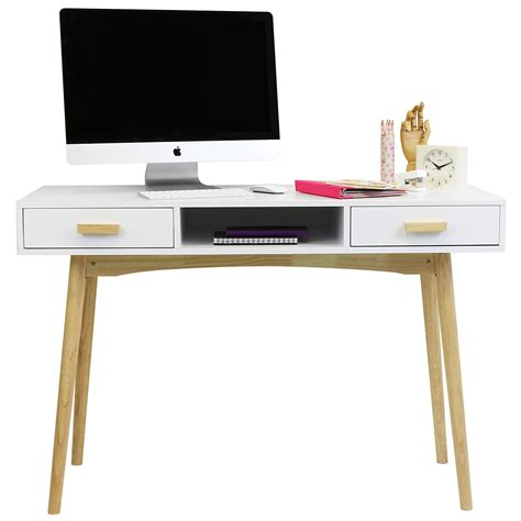retro home office desk hartleys white scandinavian retro home office work pc