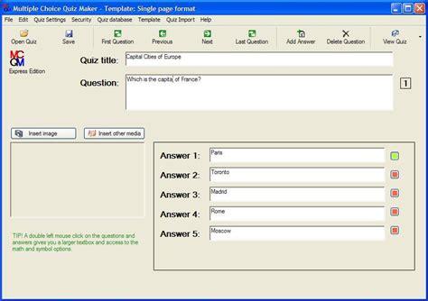Or Question Maker Choice Quiz Maker Express Software Informer Screenshots