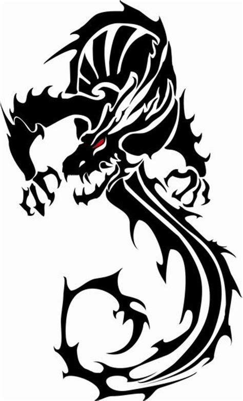 dragon tattoo vector free dragon vector art clipart best