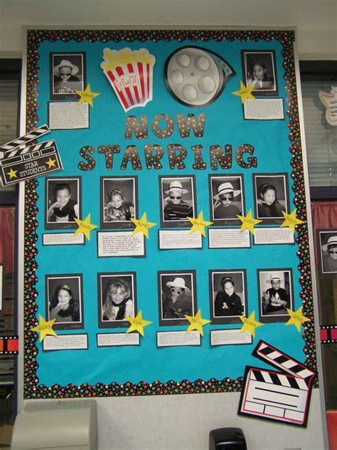 biography bulletin board title ideas now starring movie bulletin board idea myclassroomideas com