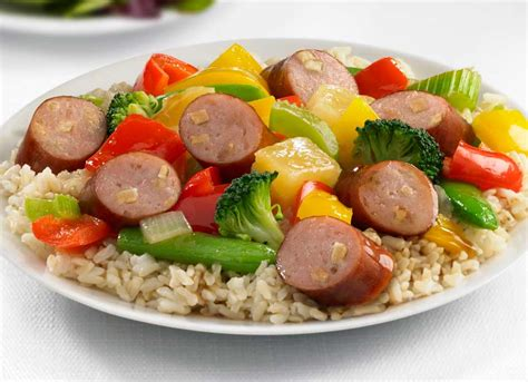 johnsonville turkey sausage recipes johnsonville apple chicken sausage sweet and sour stir fry