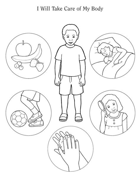 health coloring pages preschool healthy living colouring page google search home
