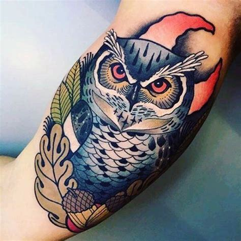 neo traditional owl tattoo 60 epic designs for legendary ink ideas