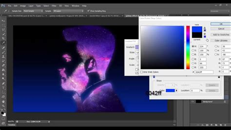 tutorial photoshop galaxy galaxy effect photoshop tutorial youtube