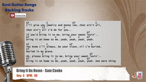 bring it on home sam cooke vocal backing track with