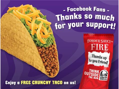 Taco Bell Gift Card Free - free taco bell crunchy taco coupon free snatcher