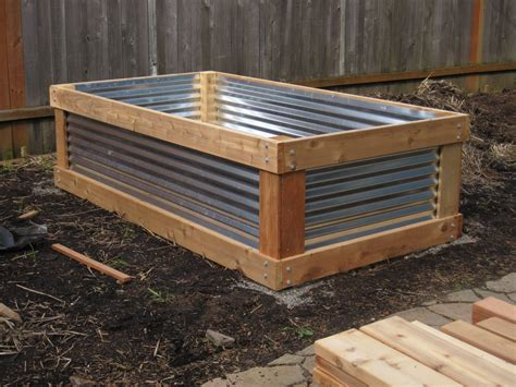 raised cedar garden bed aristata land arts cedar metal raised bed project