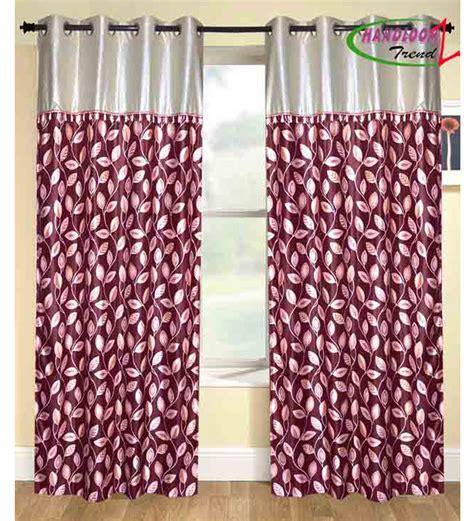 curtains maroon handloom trendz maroon printed door curtains set of 2 7