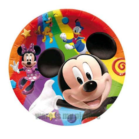 Paper Plates 7 Mickey Isi 8 disney mickey minnie mouse donald duck birthday paper 6x plates mk1336 ebay