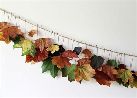 fall leaves garland decorations bringing some fall colours inside a garland with