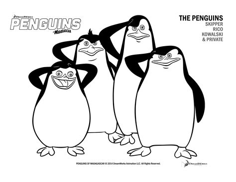 penguins movie coloring pages penguins of madagascar blu ray giveaway and printables