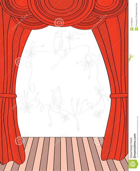 draw curtains draw curtain stock vector image 41732913