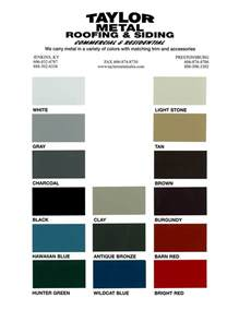 metal sales color chart colors