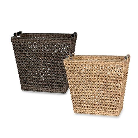 basket for towels in bathroom apricot rectangular towel basket bed bath beyond