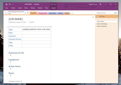 leveraging onenote build custom page templates