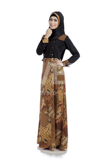 Gamis Muslim Kerudung model baju gamis batik terbaru rancangan desainer indonesia