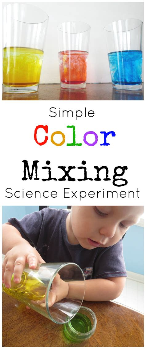 color mixes simple color mixing science experiment for preschoolers