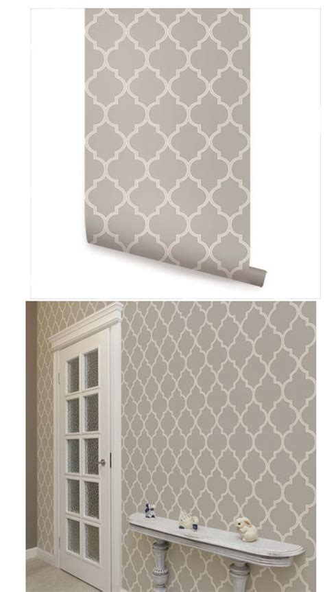 wall sticker outlet moroccan warm gray peel and stick wallpaper