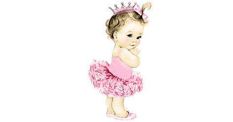 Pocheprincess In Baby Pink by Vintage Pink Ballerina Princess Baby Girl Shower Standing