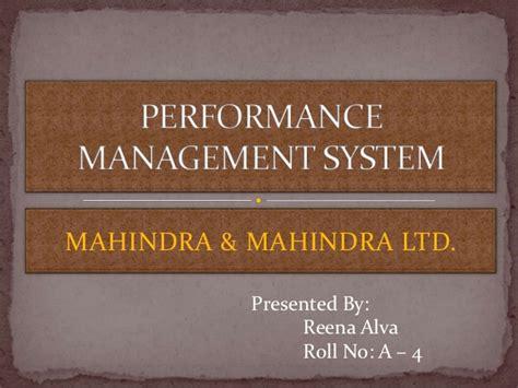 mahindra and mahindra ltd performance management system mahindra and mahindra ltd 2