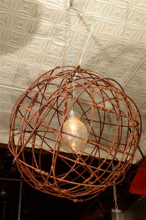 Metal Sphere Chandelier Usa Intertwined Wire Sphere Chandelier At 1stdibs