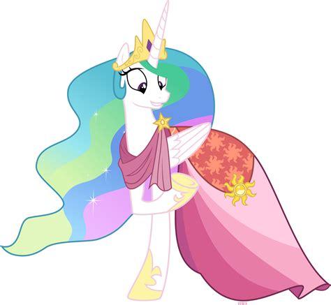 mlp princess celestia princess celestia in gala dress by xebck on deviantart