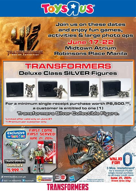 Toys R Us Transformers Sweepstakes - age of extinction silver chrome deluxes giveaway in the philippines transformers news tfw2005