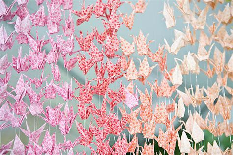 origami crane curtain diy wedding paper cranes 1 once wed