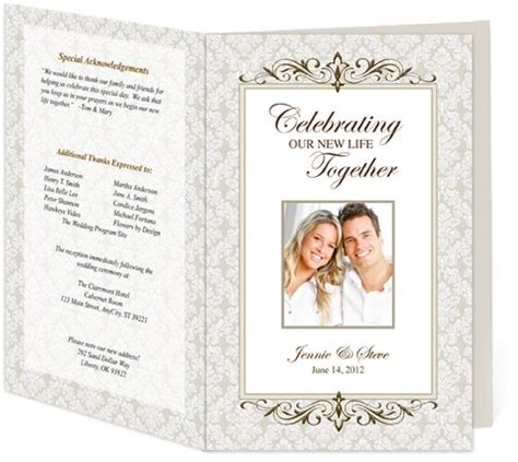 publisher program templates 18 best images about wedding programs design templates on