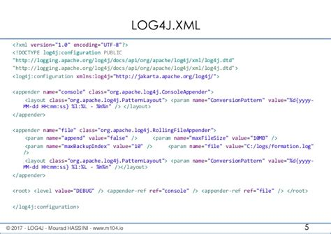 Xml Layout In Log4j | log4j