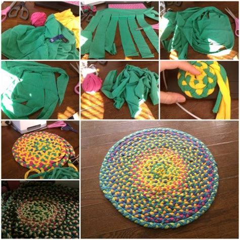 diy picture matting how to braid floor mat of used t shirt step by step diy