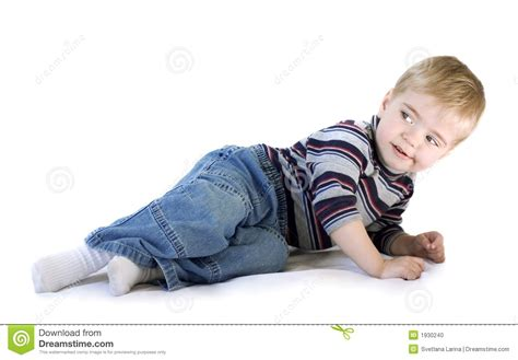 Laid In Bed by Adorable Boy Laying Stock Photo Image 1930240