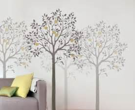 large fruit tree stencil easy reusable wall stencils for how to create a tree themed children s bedroom off the wall