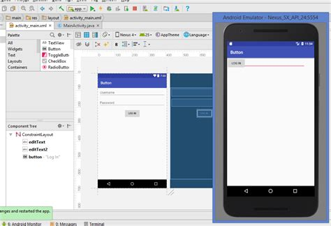 android studio change layout design android studio emulator do not show the designed layout