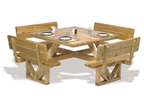 square picnic table plan picnic table plans wooden