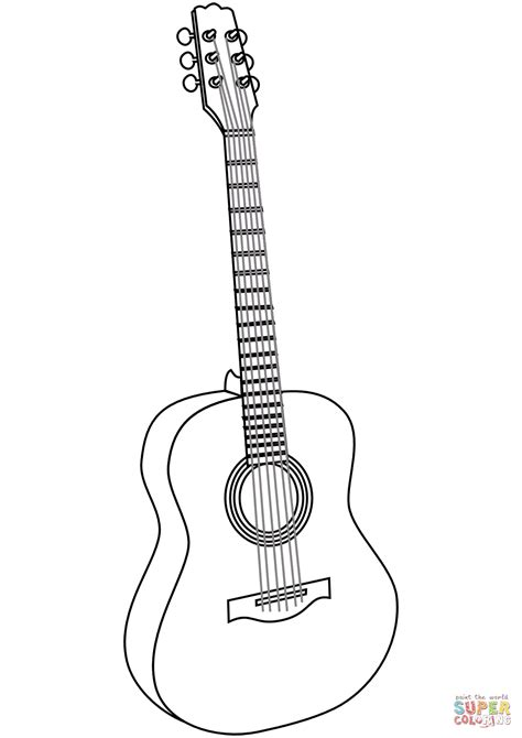 coloring pages of guitar guitar coloring page free printable coloring pages
