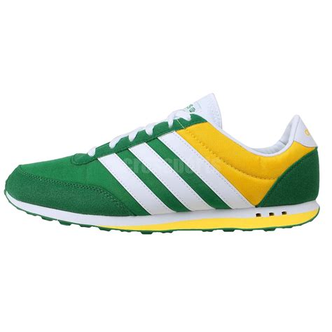 adidas v racer neo label green white yellow 2014 mens casual shoes