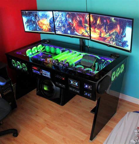 best gaming desk for pc gaming setup pinterest 10 best setup images on pinterest desks computers and