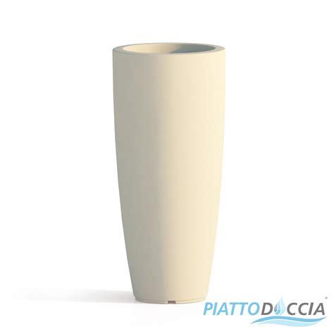 vaso alto resina vaso resina alto moderno tondo plastica pianta giardino