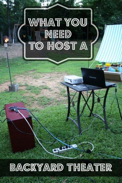 how to make a backyard movie screen 25 best ideas about backyard movie theaters on pinterest