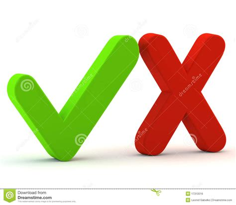 Free No Sign Up Background Check 3d Green Yes Check And No Stock Illustration Image 17310016