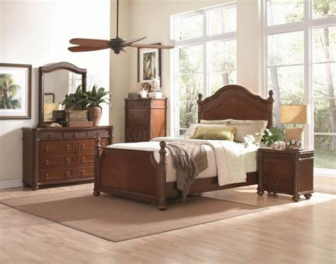 cherry finish bedroom furniture rich cherry finish classic bedroom set w queen bed options