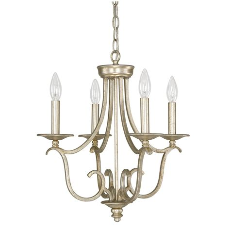 Bailey Winter Gold Four Light Mini Chandelier Capital Gold Light Fixtures