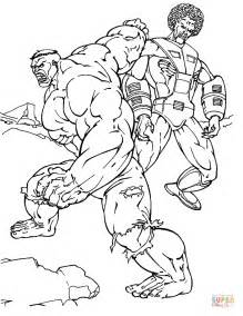hulk fighting coloring pages hulk is fighting coloring page free printable coloring pages