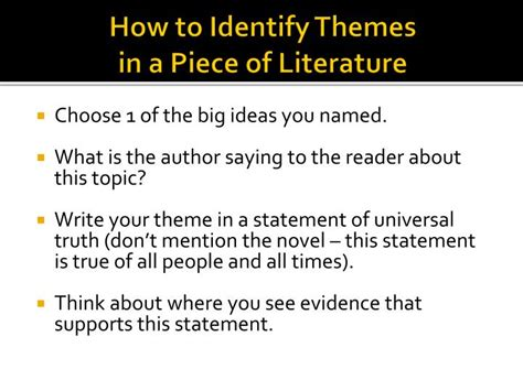 identifying themes literature review ppt themes and symbols in frankenstein powerpoint