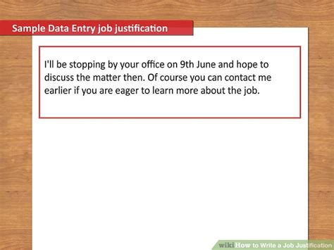 Justification Letter For Higher Salary How To Write A Justification 12 Steps With Pictures