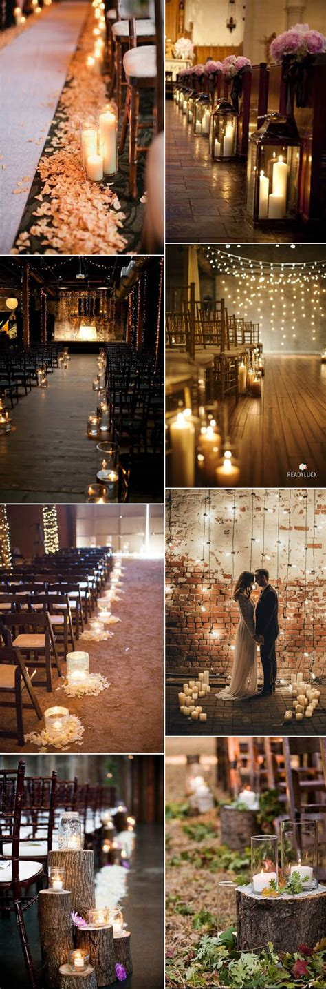 candle lighting ceremony wedding fancy candlelight ideas line the aisle with