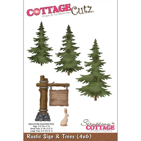 Cottage Die Cuts by Cottagecutz Die 4 Quot X6 Quot Rustic Sign Trees Free Shipping