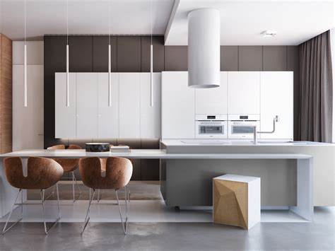 modern kitchen interior design photos two apartments with sleek grayscale interiors